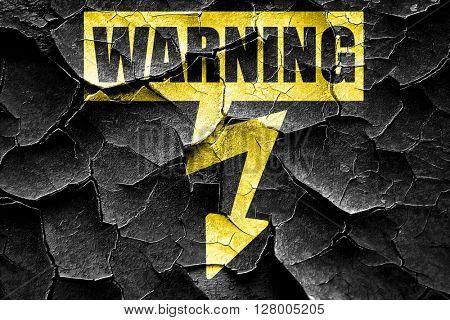 Grunge cracked High voltage sign