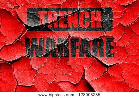 Grunge cracked trench warfare sign