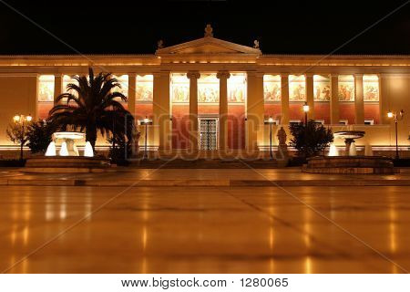University Of Athens At Night