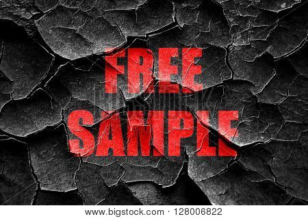 Grunge cracked free sample sign