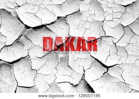 Grunge cracked dakar