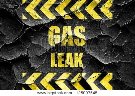 Grunge cracked Gas leak background