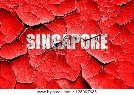 Grunge cracked Greetings from singapore