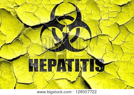 Grunge cracked Hepatitis virus concept background