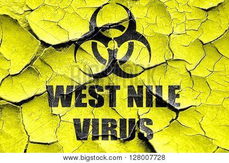 Grunge cracked West nile virus concept background
