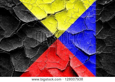 Grunge cracked Zulu maritime signal flag