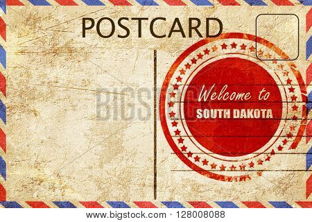Vintage postcard Welcome to south dakota