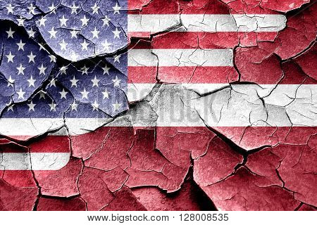 Grunge Latvia flag with american flag combination