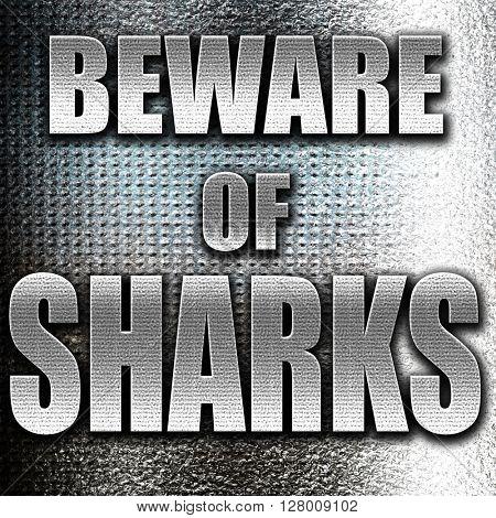 Beware of sharks sign