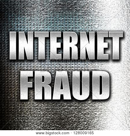 Internet fraud background