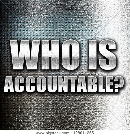 who is accountable