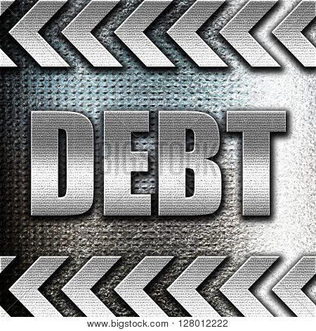 Debt sign with some smooth lines