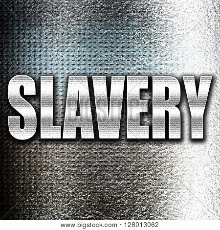 Slavery sign background