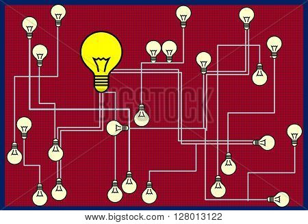 Communication   In a picture presented the uniform organization a control system. This drawing can be used in different spheres.