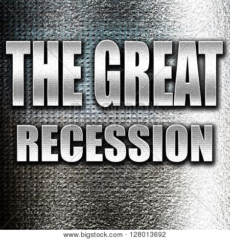 Recession sign background