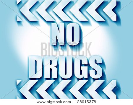 No drugs sign