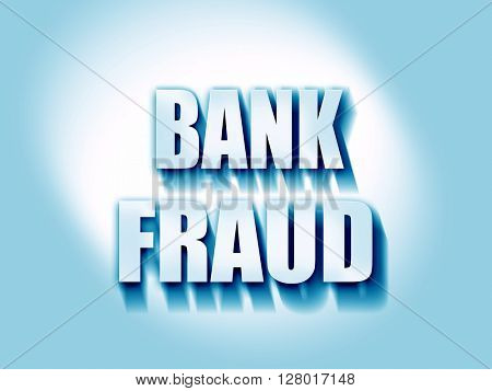 Bank fraud background