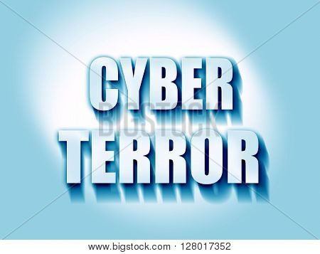 Cyber terror background