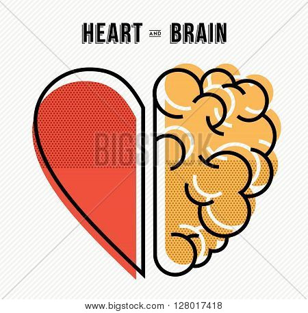 Heart And Brain Concept Design In Modern Style