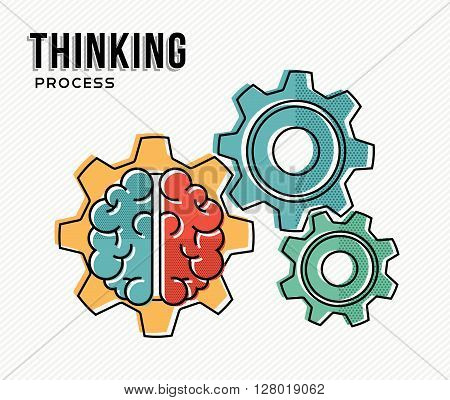 Thinking Process Modern Business Concept Design