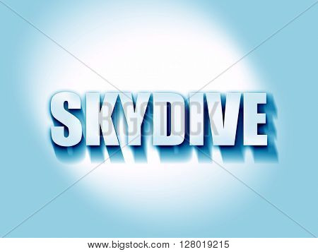 skydive sign background