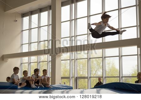 Gomel, Belarus - April 30, 2016: Sports Among Boys And Girls Born In 2005-2006 Freestyle.