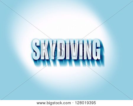 skydiving sign background