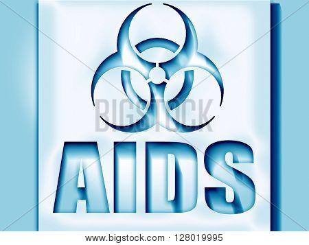 Aids virus concept background