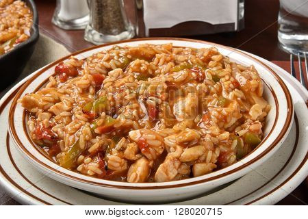 Bowl Of Chicken Fajita Rice