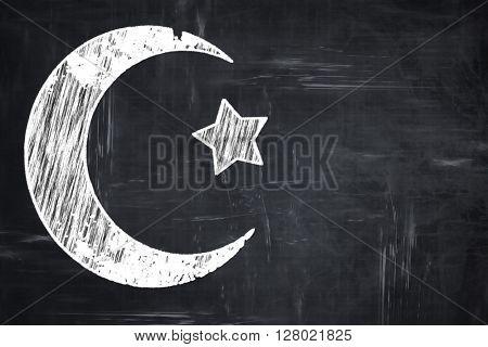 Chalkboard writing: Islam faith symbol