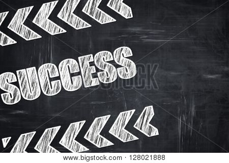 Chalkboard writing: Success sign with smooth lines