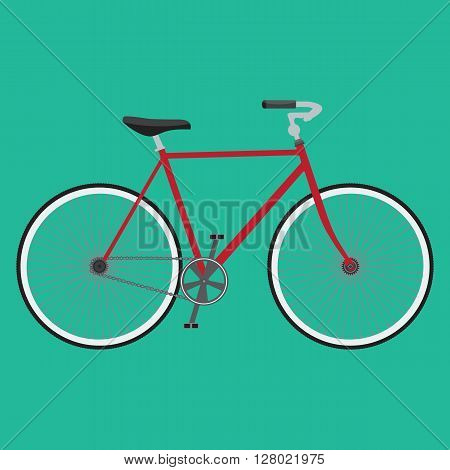 Bicycle icon. Detailed Bicycle icon solid and flat color design. Isolated background