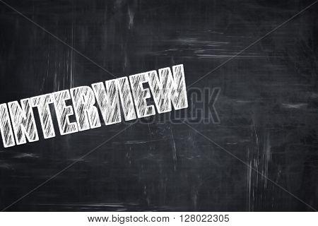 Chalkboard writing: interview