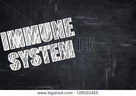 Chalkboard writing: immune sytem