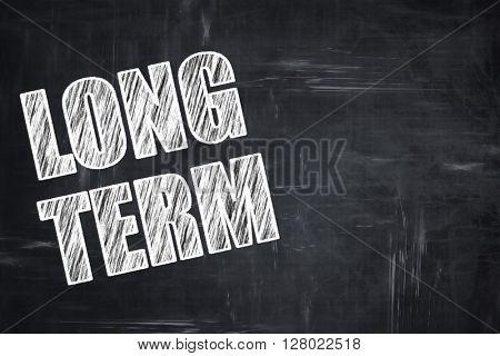 Chalkboard writing: long term
