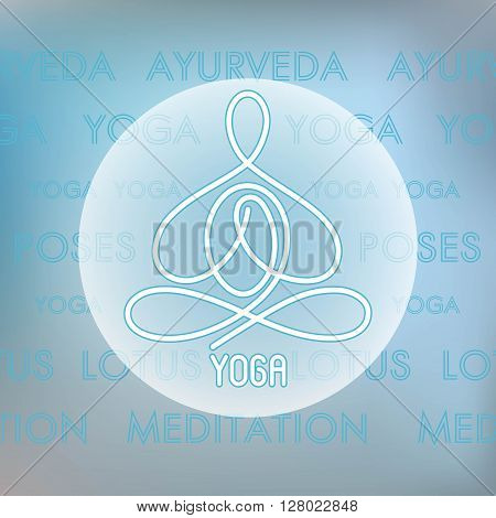 emblem Yoga Line logo on the background of the text