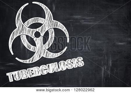 Chalkboard writing: Tuberculosis virus concept background