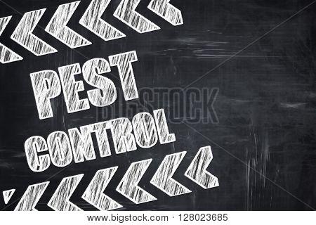 Chalkboard writing: Pest control background