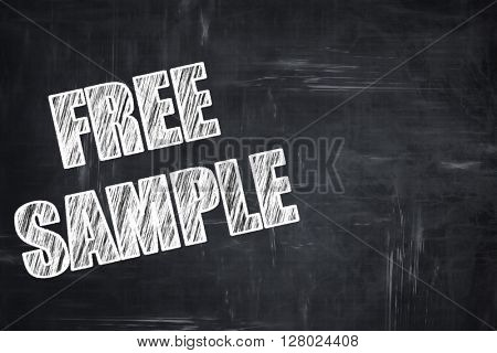 Chalkboard writing: free sample sign