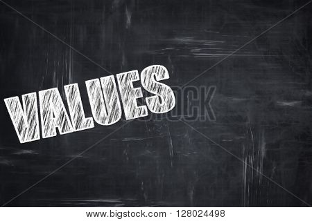 Chalkboard writing: values