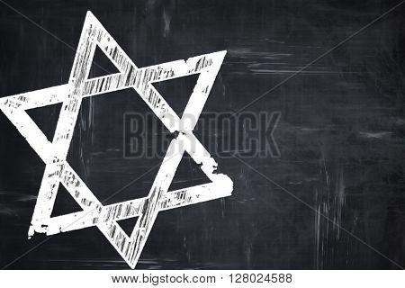 Chalkboard writing: Star of david