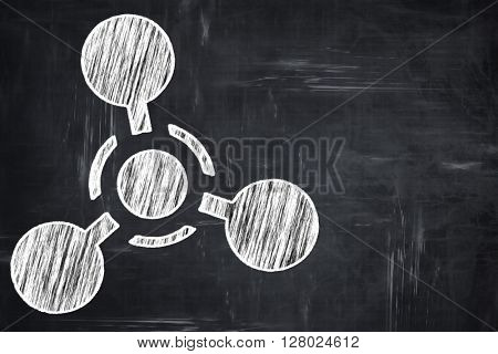 Chalkboard writing: Chemical weapon sign