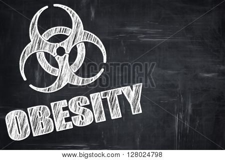 Chalkboard writing: Obesity concept background