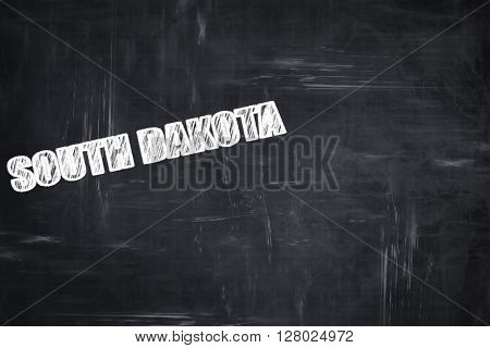 Chalkboard background with chalk letters:  south dakota