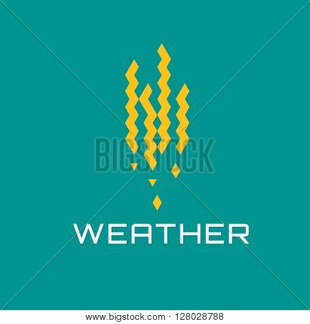 Business Icon - Vector logo concept design template. Abstract emblem for synoptic cast, weather conditions
