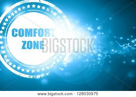 Blue stamp on a glittering background: comfort zone