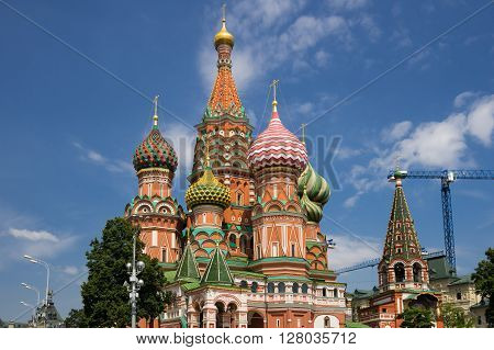 Saint Basils Cathedral at the Red Square Moscow Russia