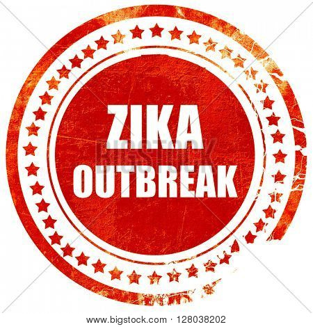 Zika virus concept background, grunge red rubber stamp on a soli