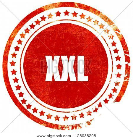 xxl sign background, grunge red rubber stamp on a solid white ba