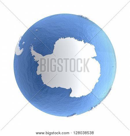 Antarctica On Silver Earth